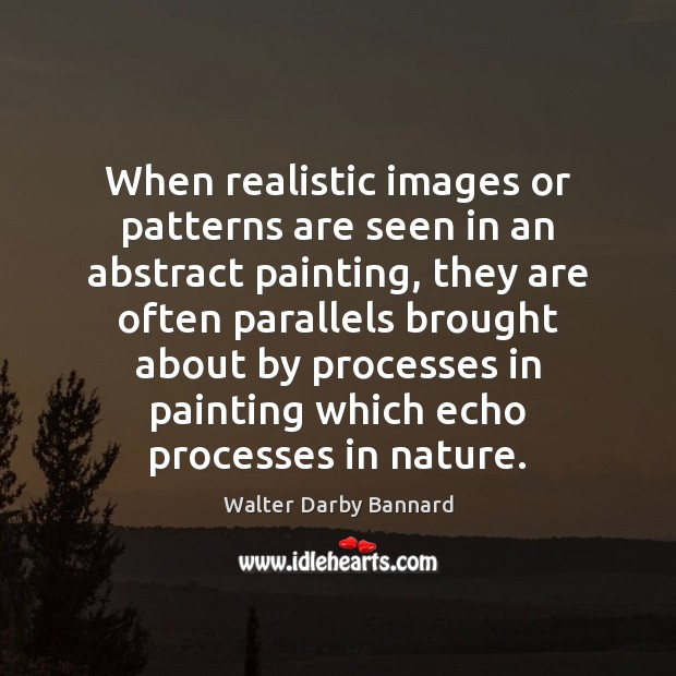 Image, When realistic images or patterns are seen in an abstract painting, they