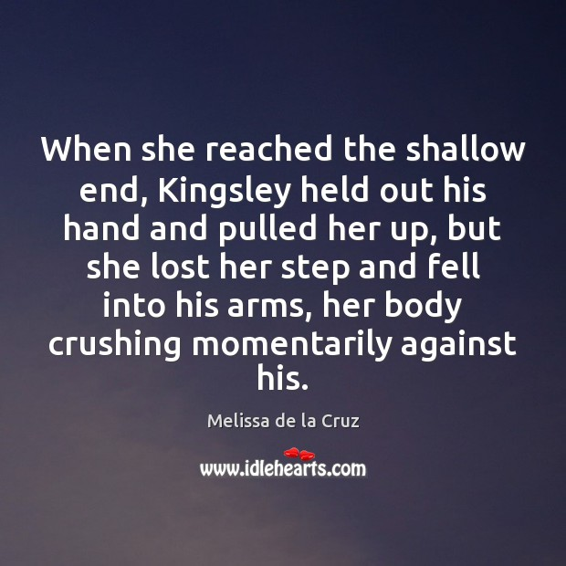 Image, When she reached the shallow end, Kingsley held out his hand and