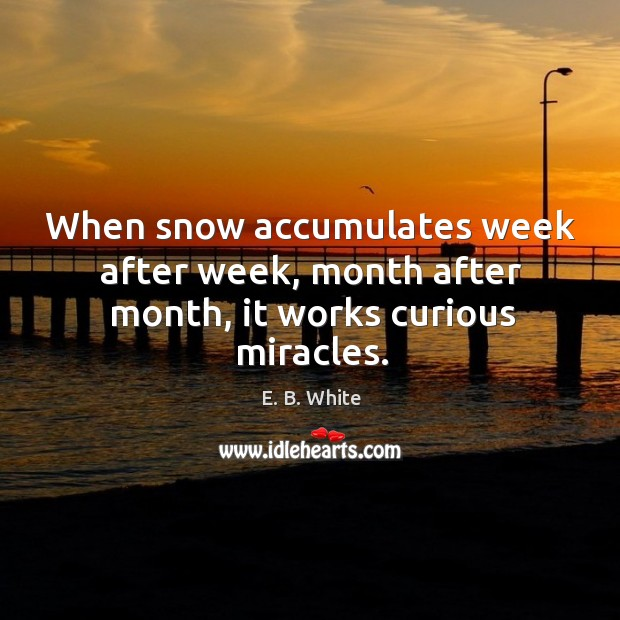When snow accumulates week after week, month after month, it works curious miracles. Image