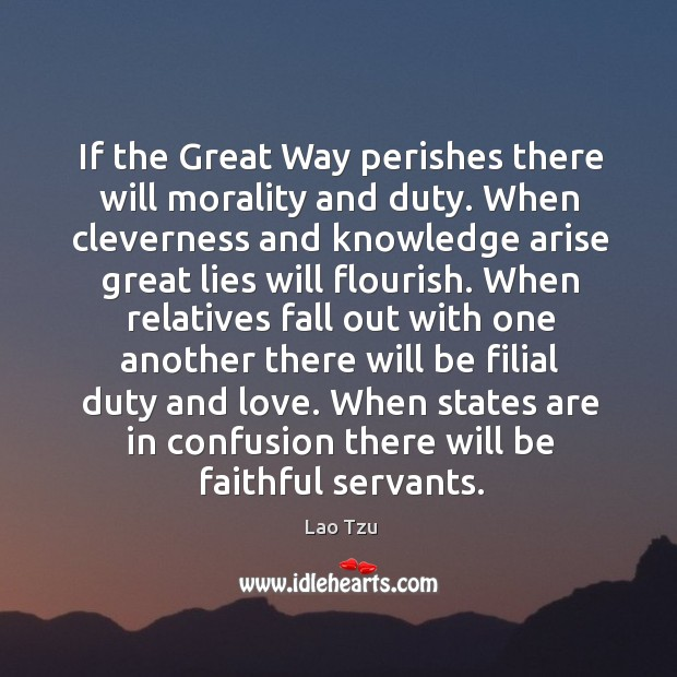 Image, When states are in confusion there will be faithful servants.
