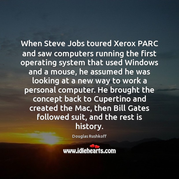 Image, When Steve Jobs toured Xerox PARC and saw computers running the first