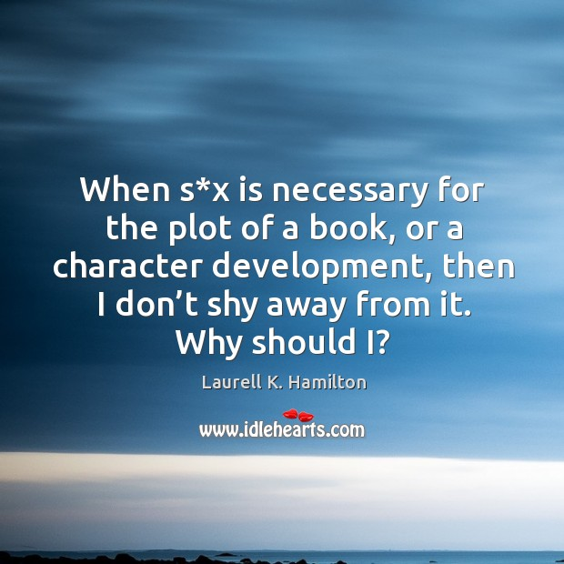 Image, When s*x is necessary for the plot of a book, or a character development