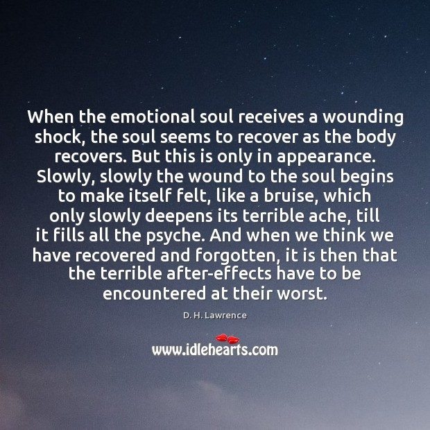 When the emotional soul receives a wounding shock, the soul seems to Image