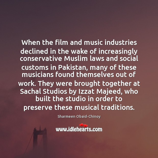 When the film and music industries declined in the wake of increasingly Image