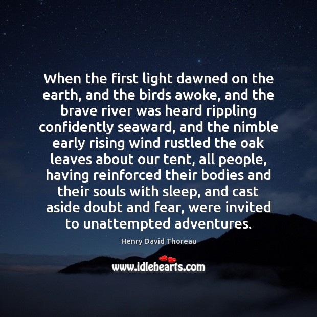 When the first light dawned on the earth, and the birds awoke, Image