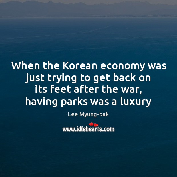 Image, When the Korean economy was just trying to get back on its