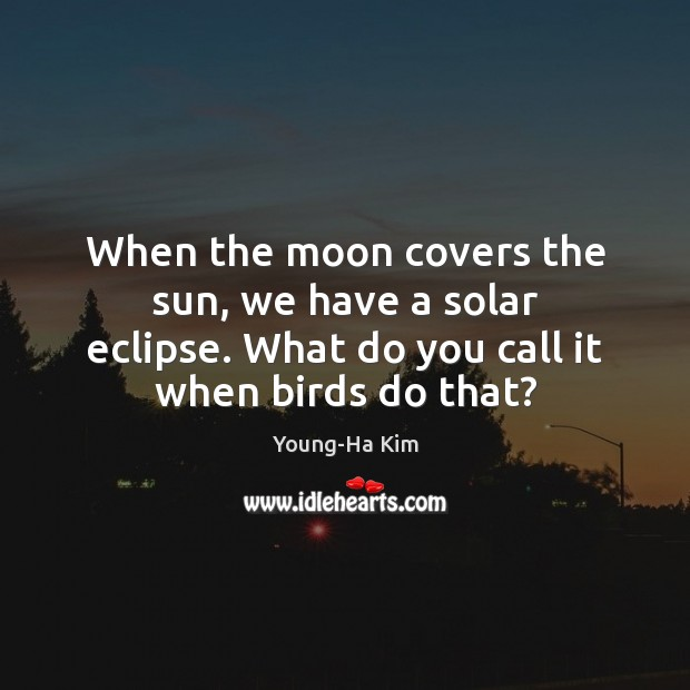 When the moon covers the sun, we have a solar eclipse. What Image