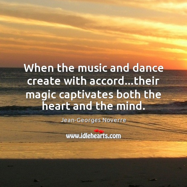 Image, When the music and dance create with accord…their magic captivates both