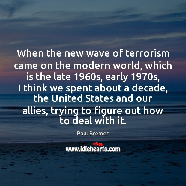 the four waves of modern terrorism