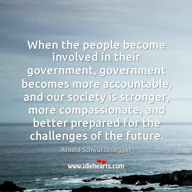 When the people become involved in their government Image