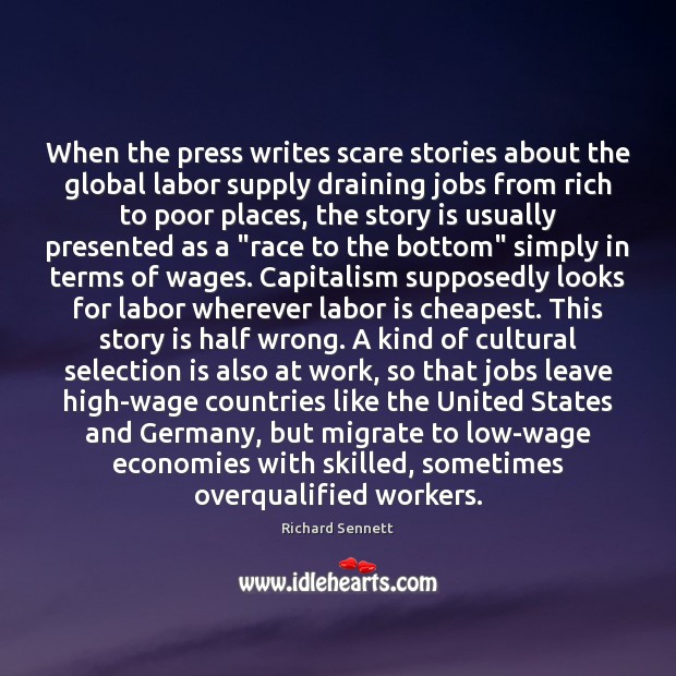 Image, When the press writes scare stories about the global labor supply draining
