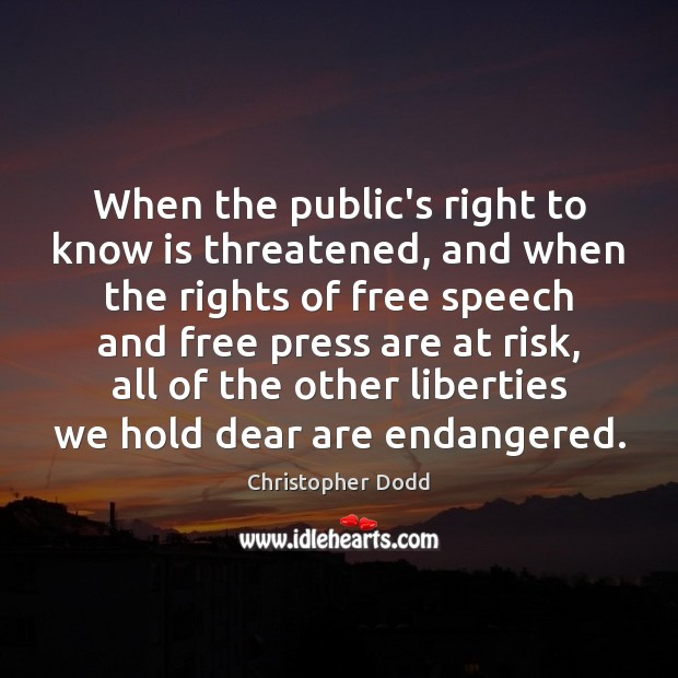 When the public's right to know is threatened, and when the rights Image