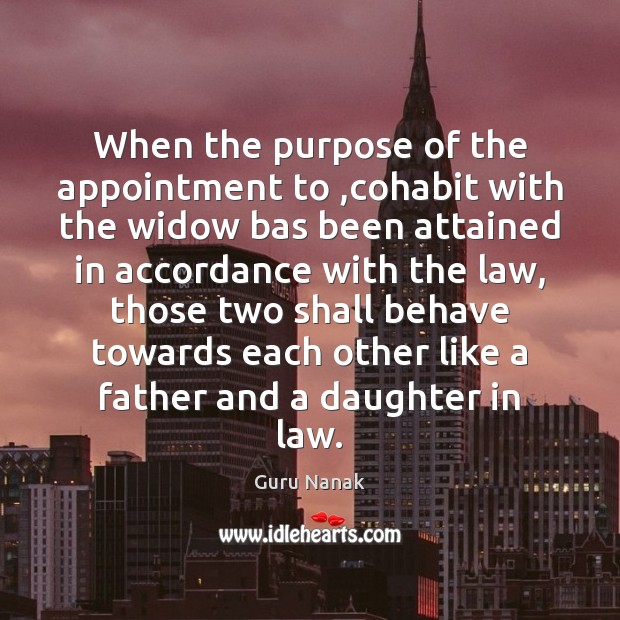 When the purpose of the appointment to ,cohabit with the widow bas Image