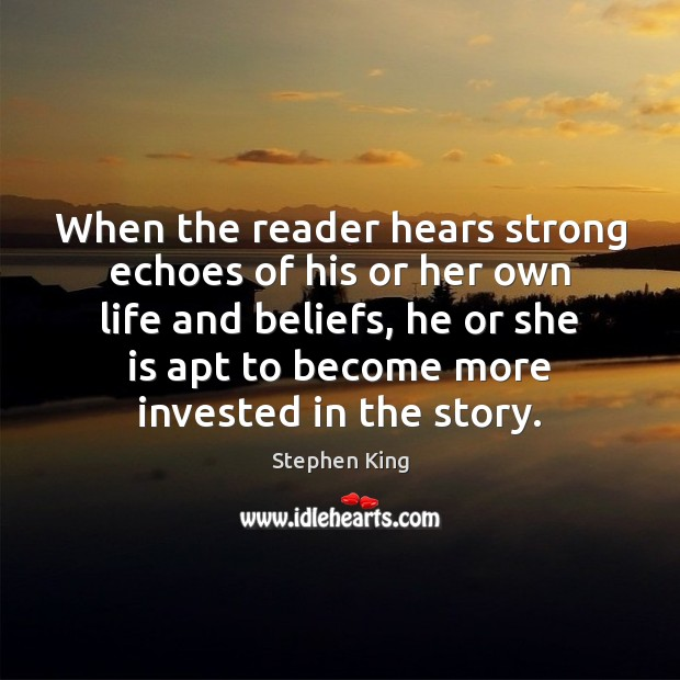 Image, When the reader hears strong echoes of his or her own life