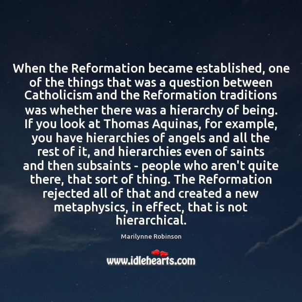 When the Reformation became established, one of the things that was a Image