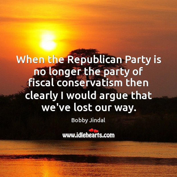 When the Republican Party is no longer the party of fiscal conservatism Image