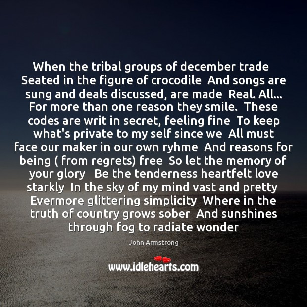 Image, When the tribal groups of december trade   Seated in the figure of