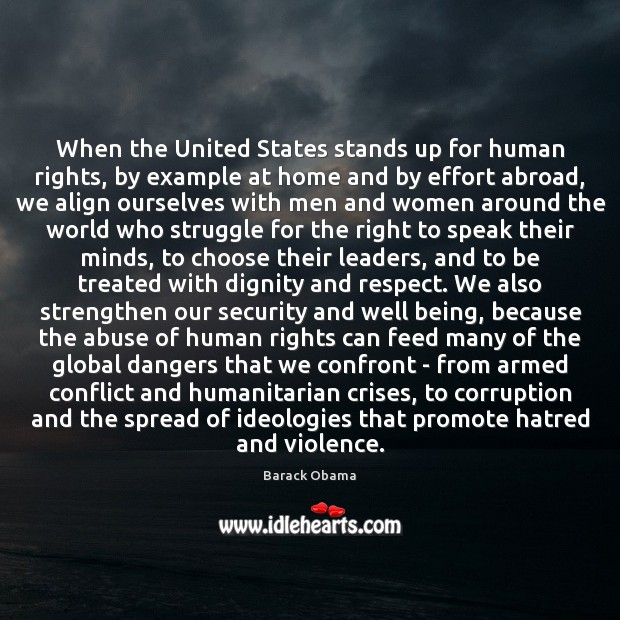 When the United States stands up for human rights, by example at Image