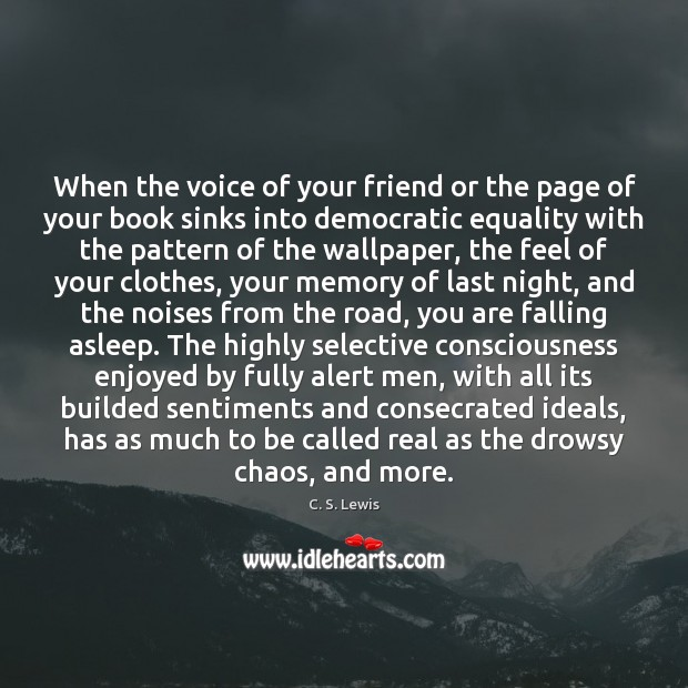 When the voice of your friend or the page of your book Image