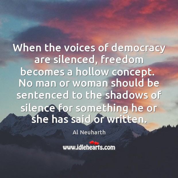 Image, When the voices of democracy are silenced, freedom becomes a hollow concept.