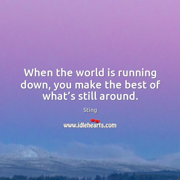 Picture Quote by Sting