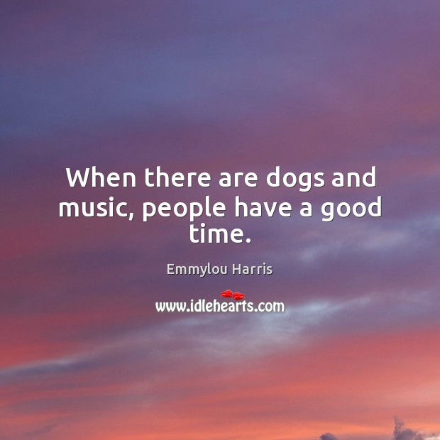 When there are dogs and music, people have a good time. Image