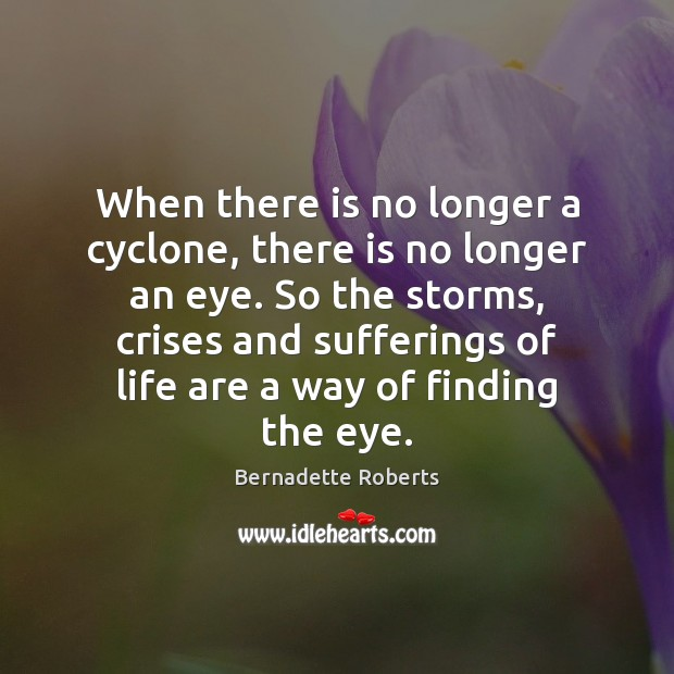 Image, When there is no longer a cyclone, there is no longer an