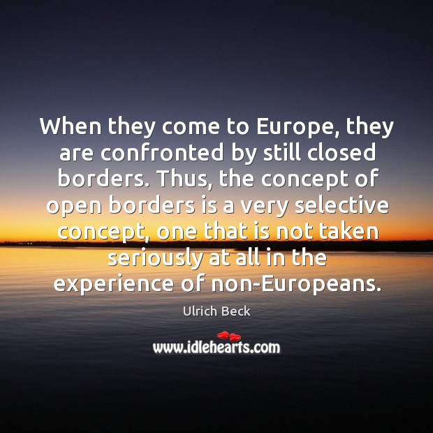 When they come to europe, they are confronted by still closed borders. Image
