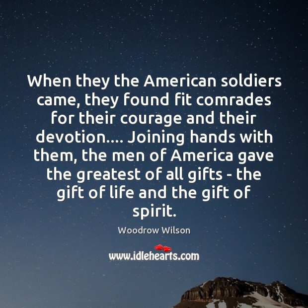 Image, When they the American soldiers came, they found fit comrades for their