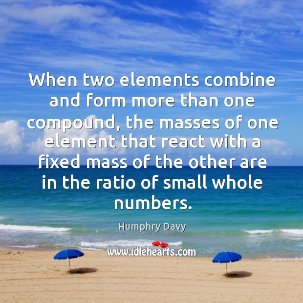 When two elements combine and form more than one compound, the masses of Image