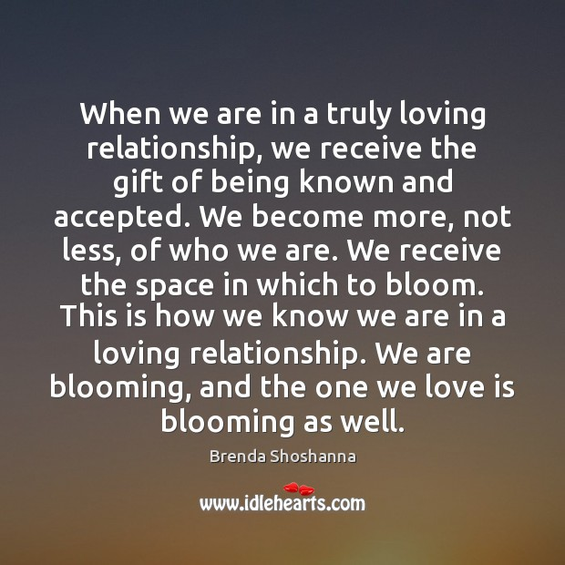 When we are in a truly loving relationship, we receive the gift Image