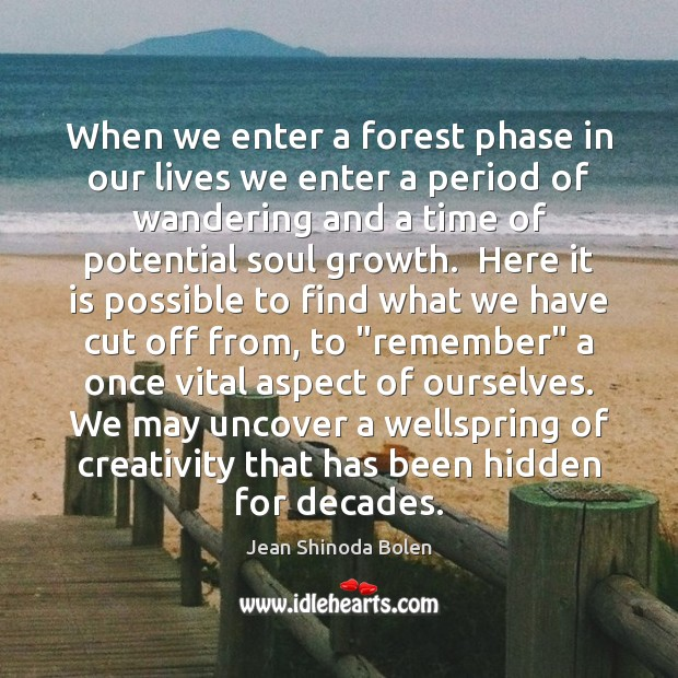 When we enter a forest phase in our lives we enter a Image