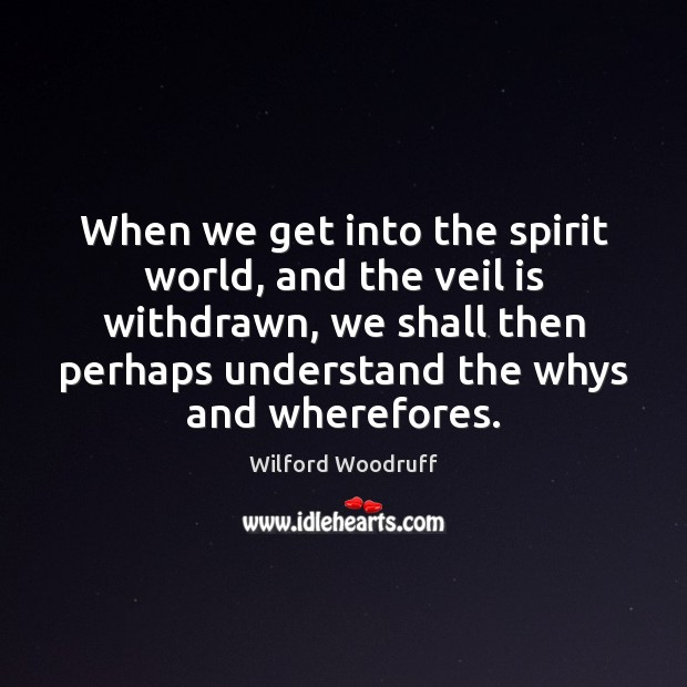 When we get into the spirit world, and the veil is withdrawn, Image