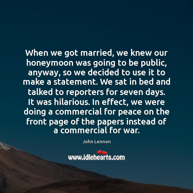 When we got married, we knew our honeymoon was going to be Image