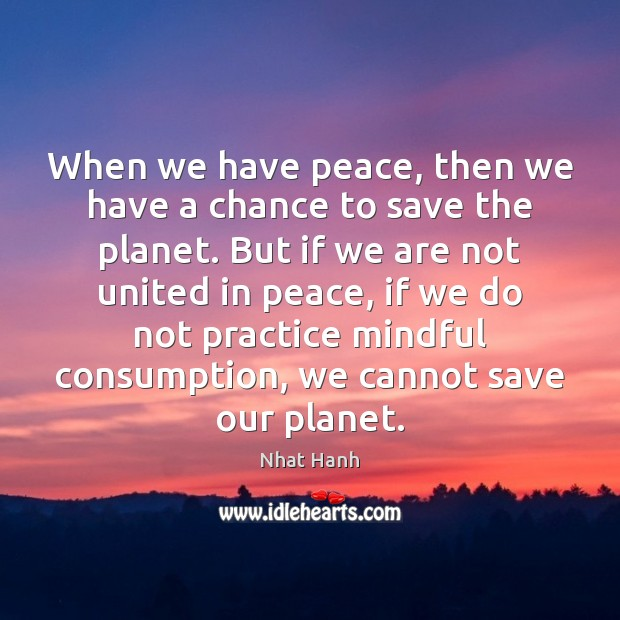 Image, When we have peace, then we have a chance to save the