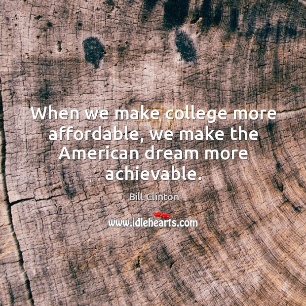 american dream achievable My parents sacrificed their lives to give me a better opportunity at the american  dream we left our home, our family, our lives earning back in.