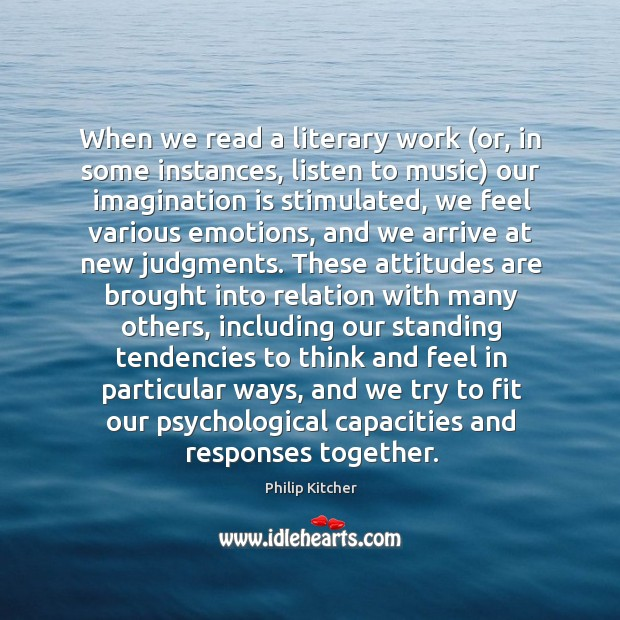 Image, When we read a literary work (or, in some instances, listen to