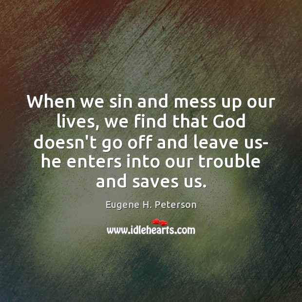 When we sin and mess up our lives, we find that God Image
