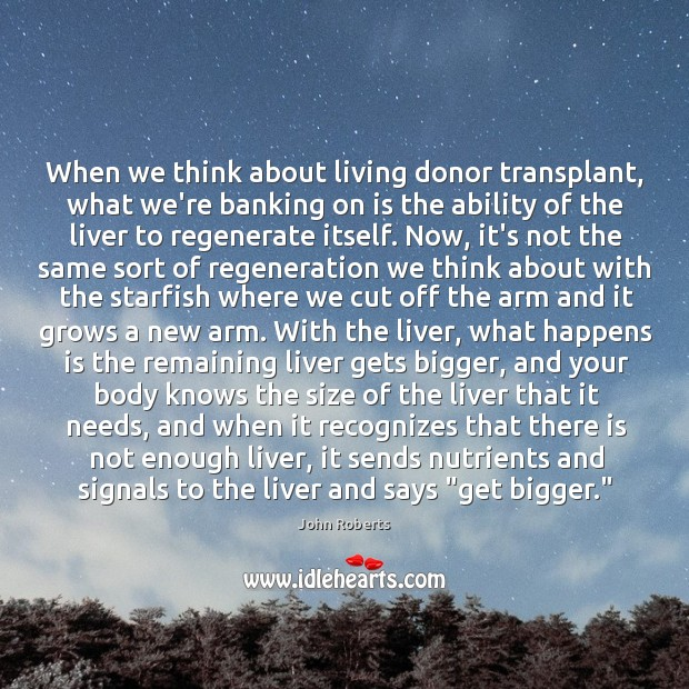 When we think about living donor transplant, what we're banking on is Image