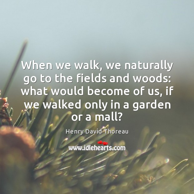 Image, When we walk, we naturally go to the fields and woods: what