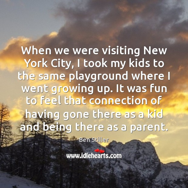 When we were visiting New York City, I took my kids to Image