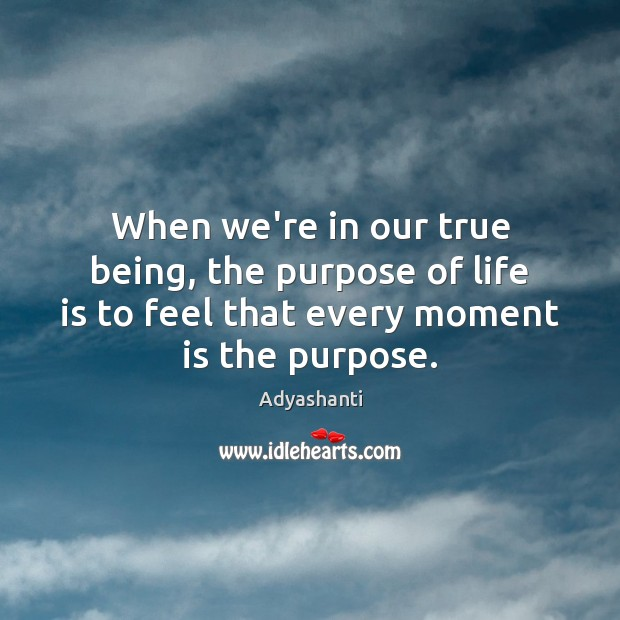 Image, When we're in our true being, the purpose of life is to