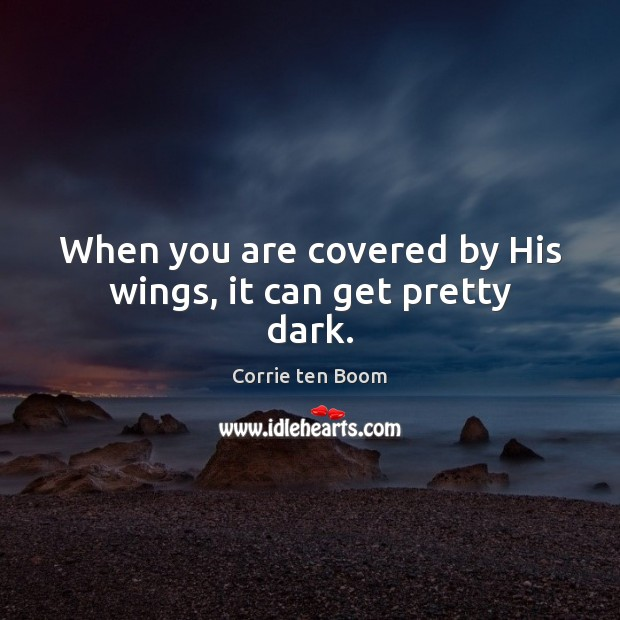 When you are covered by His wings, it can get pretty dark. Image