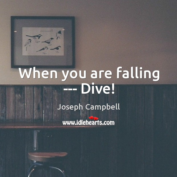 When you are falling — Dive! Image
