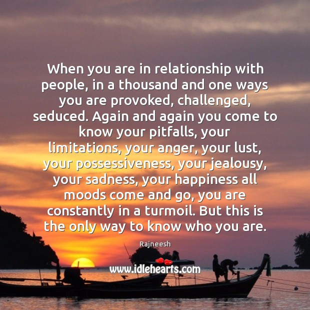 Image, When you are in relationship with people, in a thousand and one