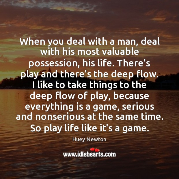 When you deal with a man, deal with his most valuable possession, Image