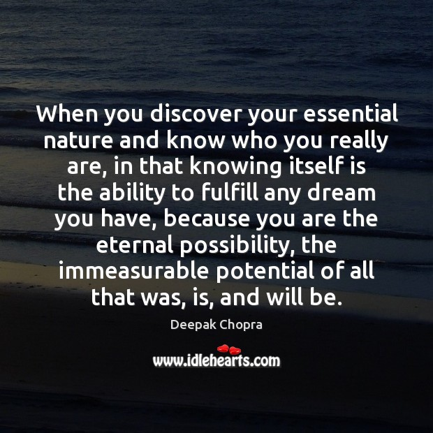 When you discover your essential nature and know who you really are, Image