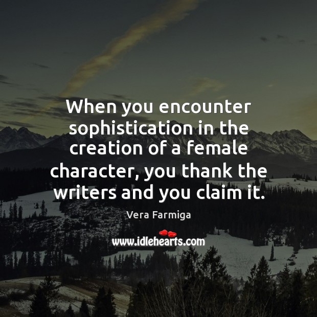 When you encounter sophistication in the creation of a female character, you Image