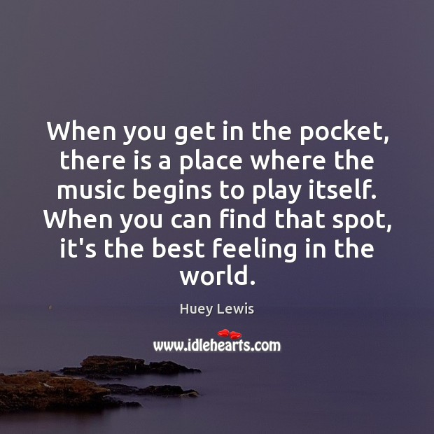 When you get in the pocket, there is a place where the Image
