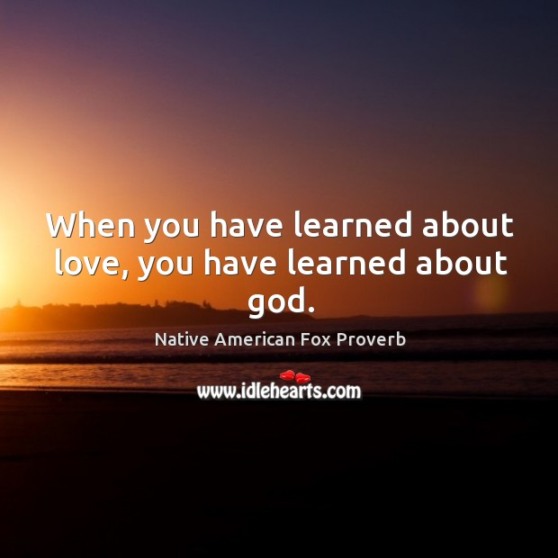 Native American Fox Proverbs
